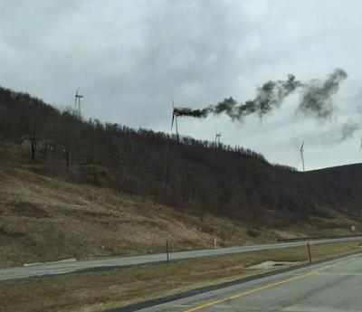 Wind turbine catches fire in Mount Storm | News | times-news com