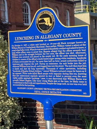 Historical marker for William Burns (copy)