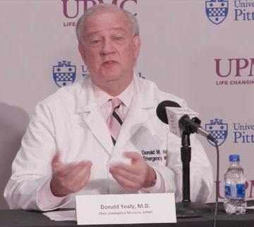 Donald Yealy, chair, Department of Emergency Medicine, UPMC and University of Pittsburgh