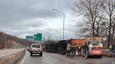 No injuries in I-68 crash