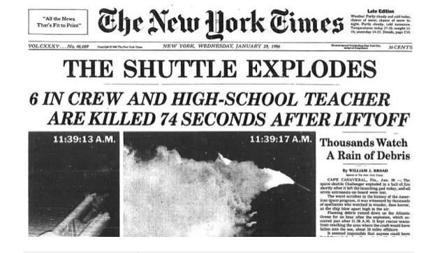 The Space Shuttle Challenger Exploded 29 Years Ago Today