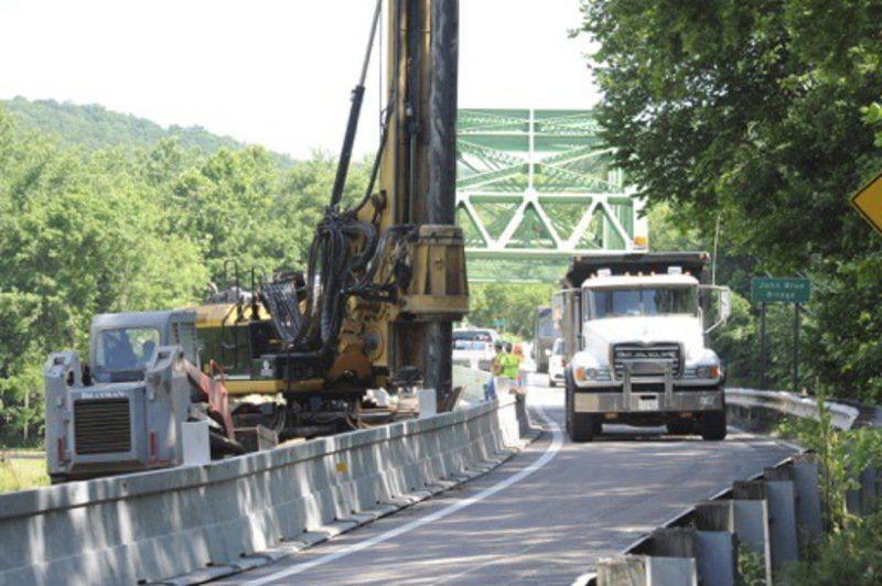 Work underway to replace John Blue Bridge