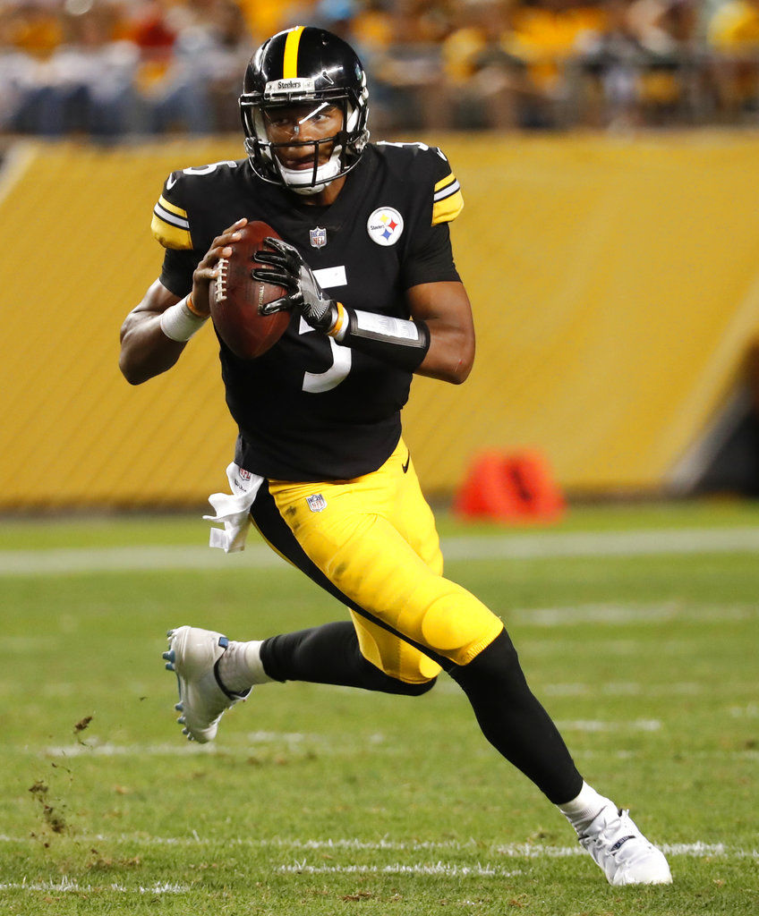 0e5d06f0f Panthers Steelers Football. Pittsburgh quarterback Joshua Dobbs ...
