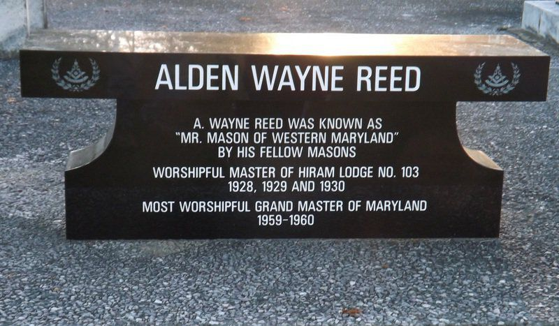 Lodge will dedicate Reed memorial bench