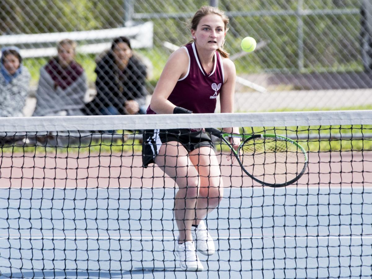 Spaulding tennis nips North Country