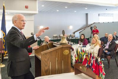 Representative Welch addresses Montpelier Rotary Club