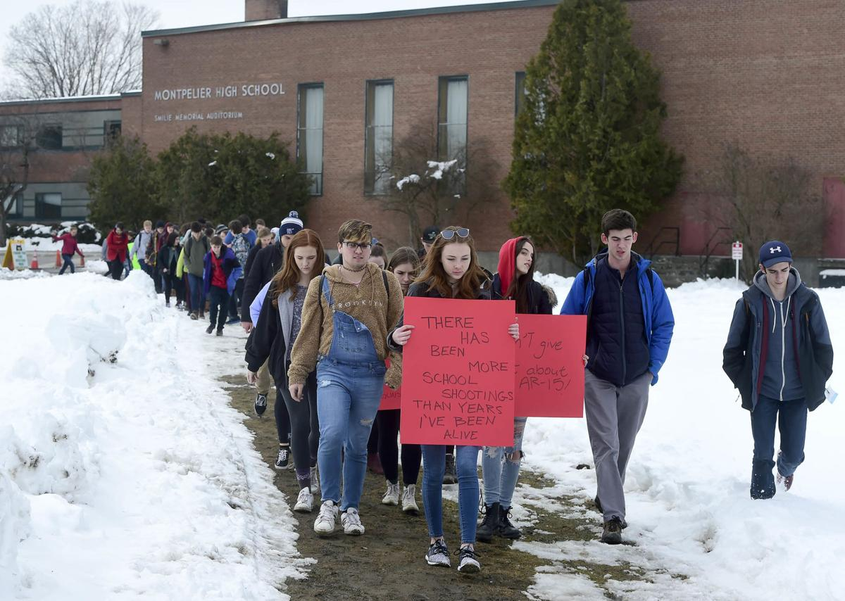 Local students protest mass shootings