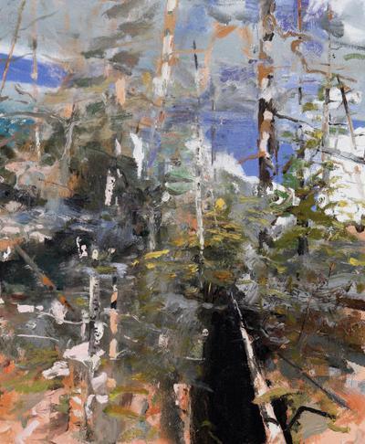 'A Thousand Acres': Eric Aho paints from the landscape