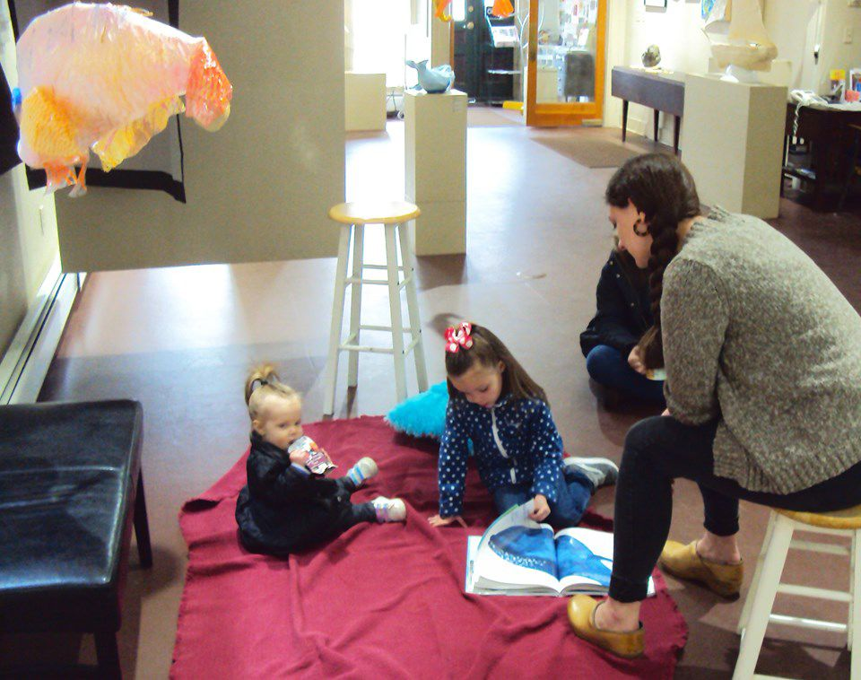 Storytime in the Gallery at SPA