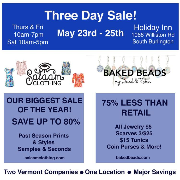 Baked Beads & Salaam Sale!