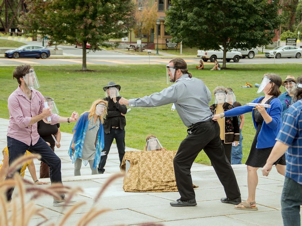 "'A Midsummer Night's Dream"": Lost Nation brings the Bard's fantasy to the State House steps"