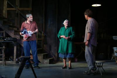 Theater Review: Rebeck's tragic puzzle solved 'Downstairs'
