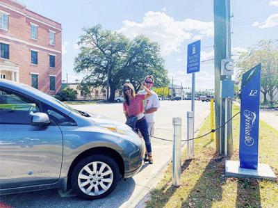City adds charging stations for electric vehicles