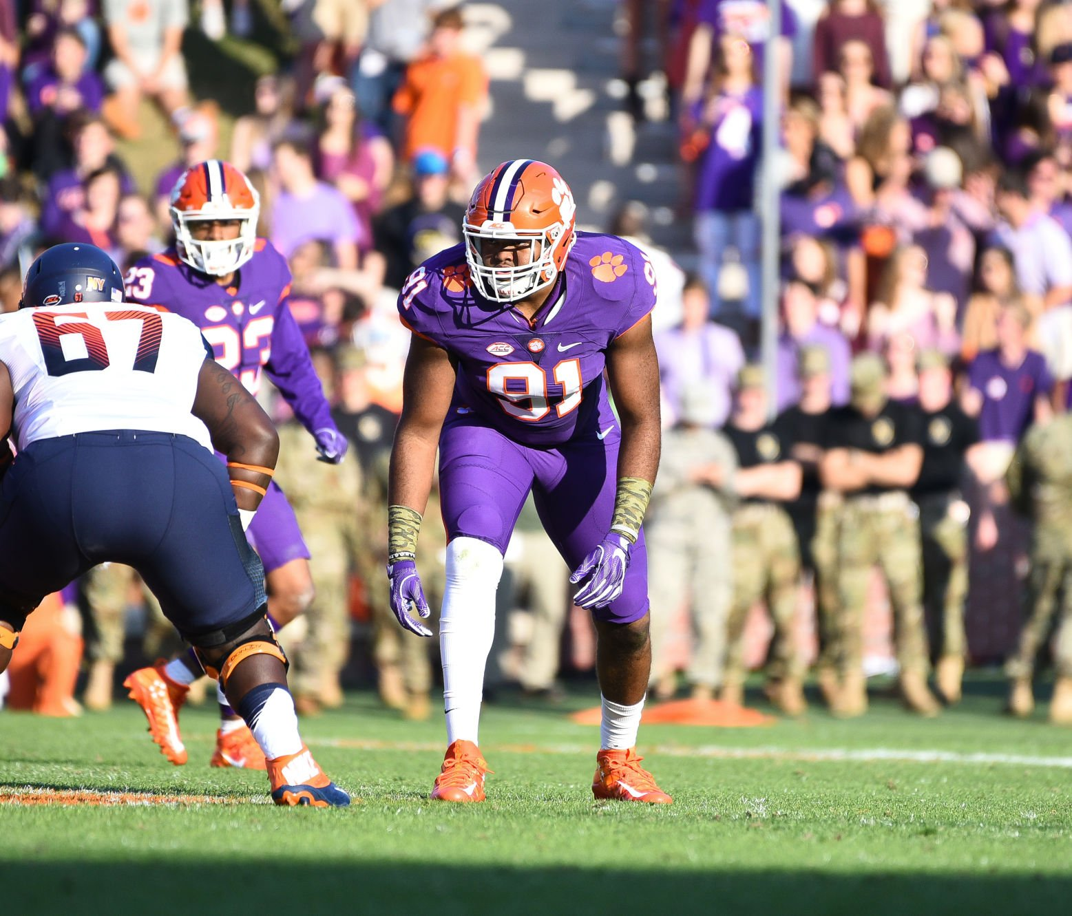 Clemson Defensive End And Central Grad Austin Bryant Batted Down A Pass In  The National Championship Game.