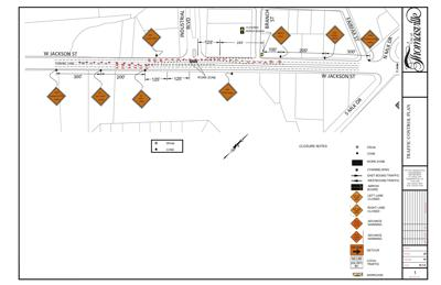 West Jackson road work map