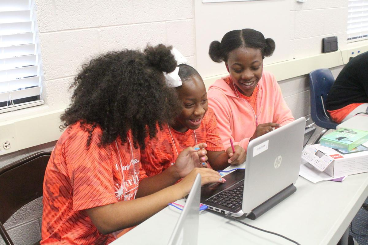The camp helps to teach computer science basics to middle and high school students.