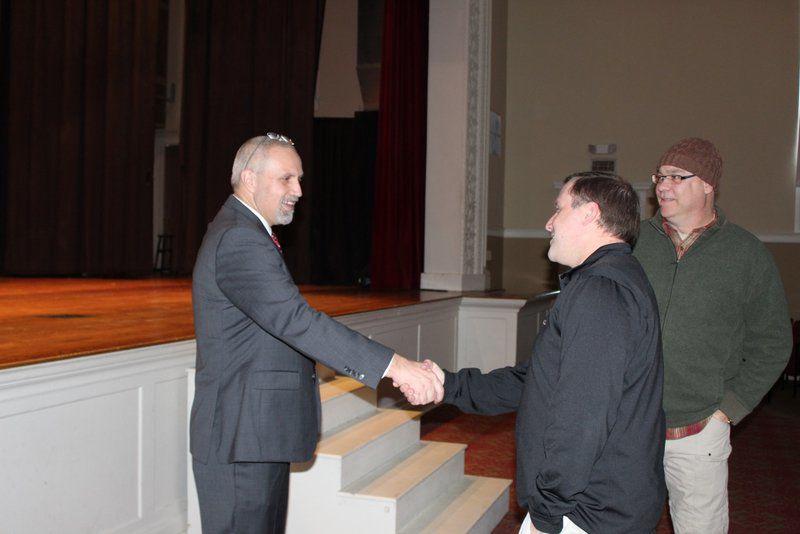 City schools staff meets new leader
