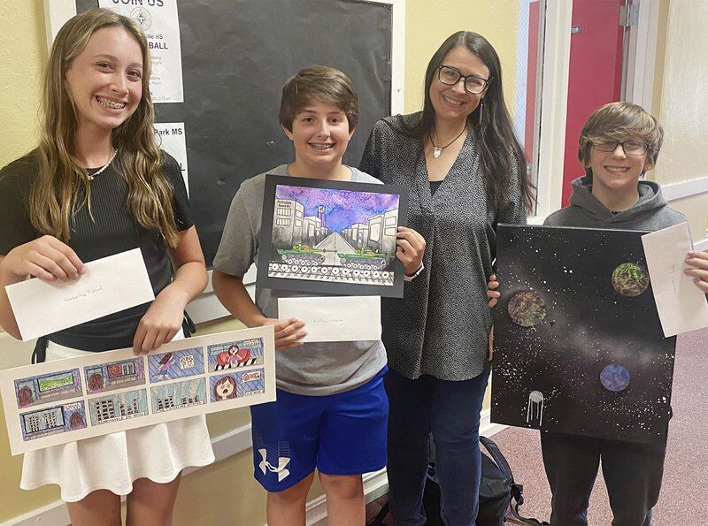 Students use art to bridge generational gap