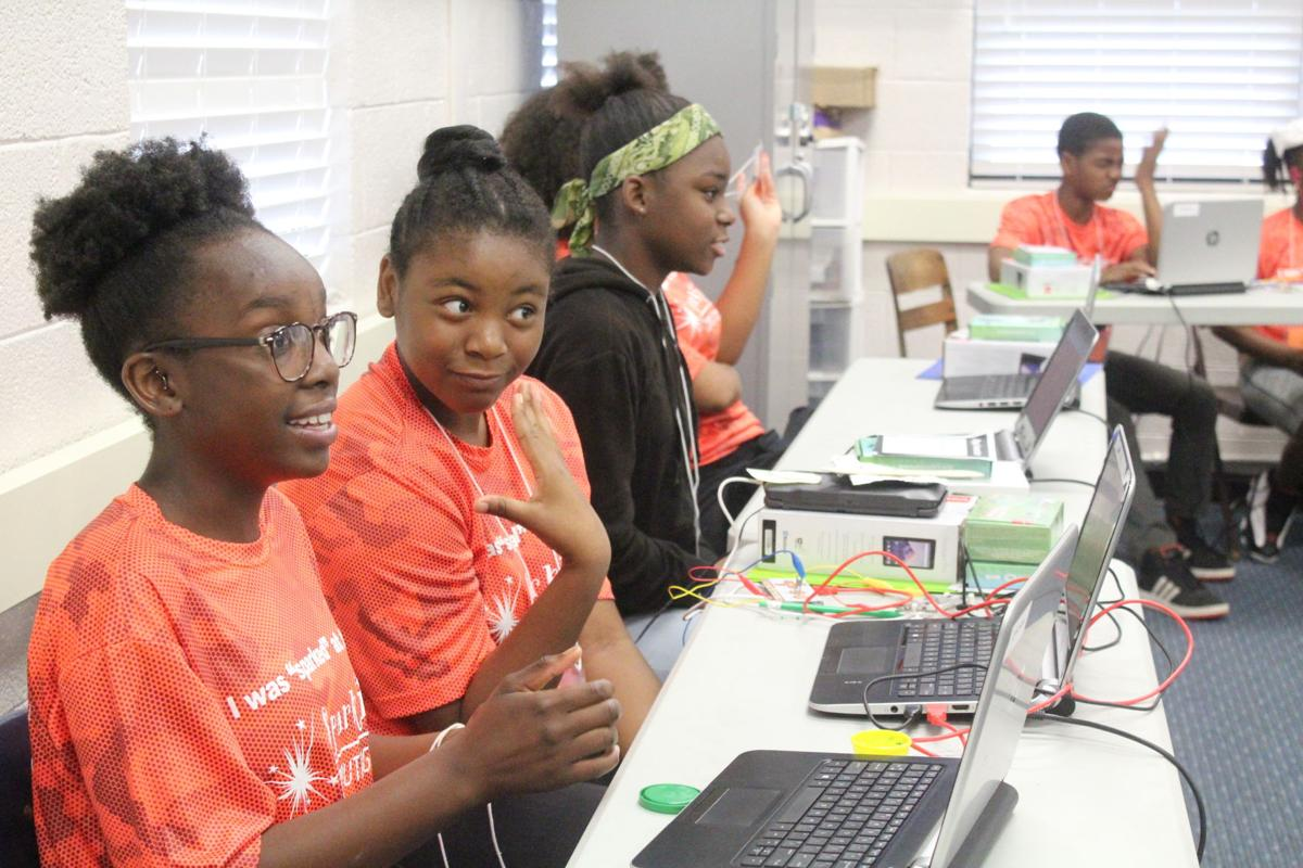 Students at SparkIT Computing Camp spent the week learning about mobile app development and the internet of things.
