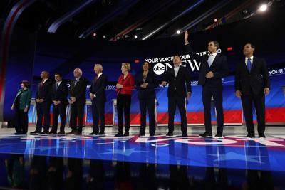 Liberal, moderate divide on display in Democratic debate (copy)