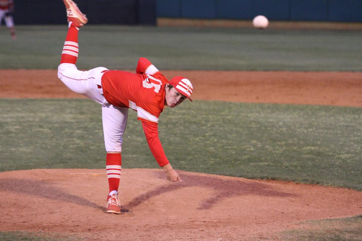 Thomasville s jacob bradshaw pitches against dade county in game 2 of a second round playoff doubleheader friday night