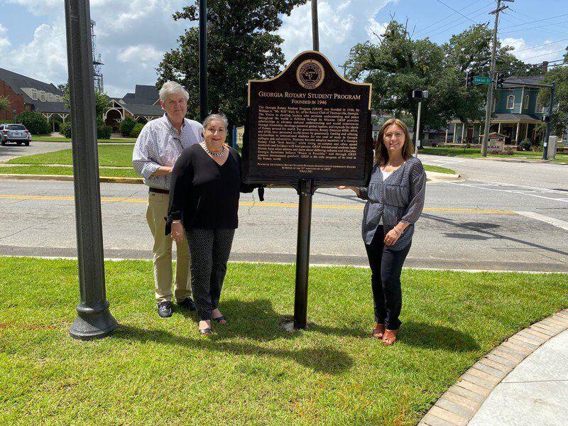 Peace Plaza commemorates 75 years of Rotary scholarship program