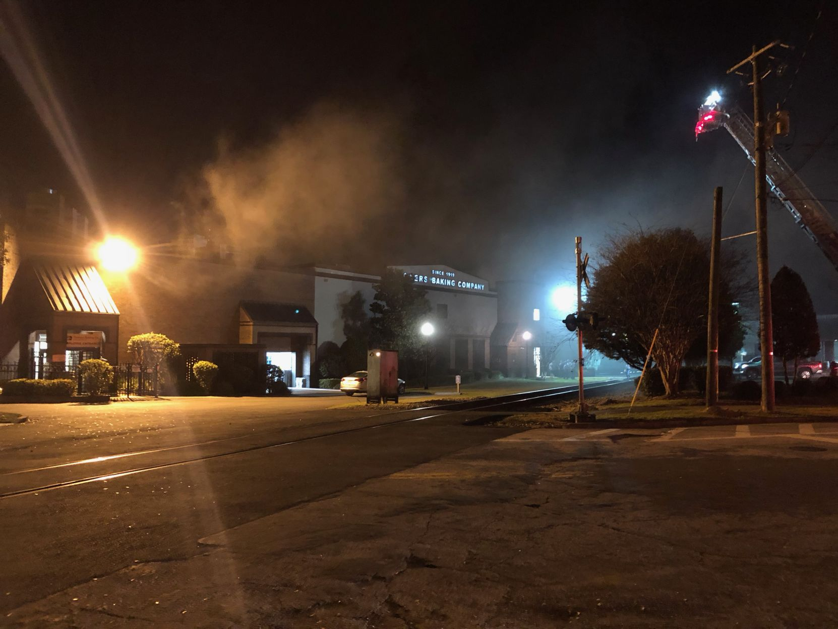 Fire crews responding to incident at Flowers Bakery
