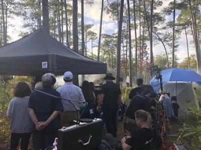 Greenwood Plantation the scene for film crew