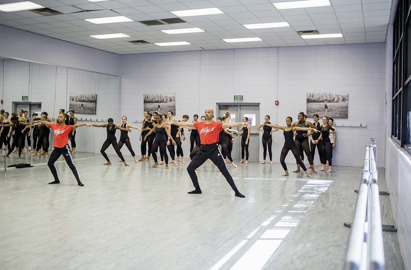 Local dance students learn from Ailey II dancers