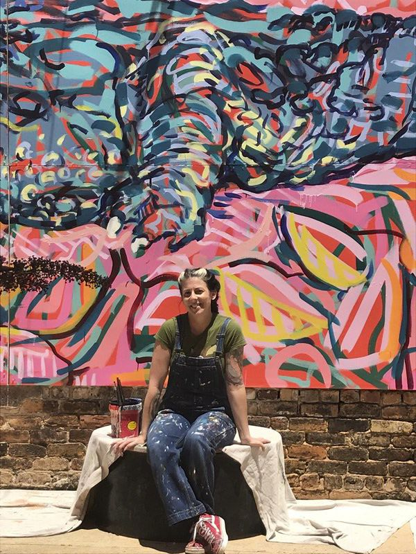 Giant gator mural now calls UnVacant Lot home