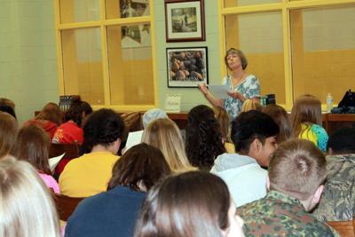 Author visits MERIT students