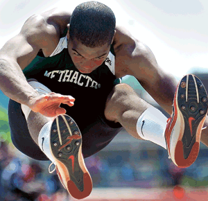 Lavong captures triple jump, sets state mark in PIAA meet
