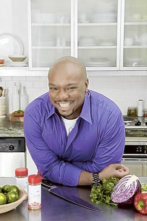 Celebrity chef Aaron McCargo at local fundraiser