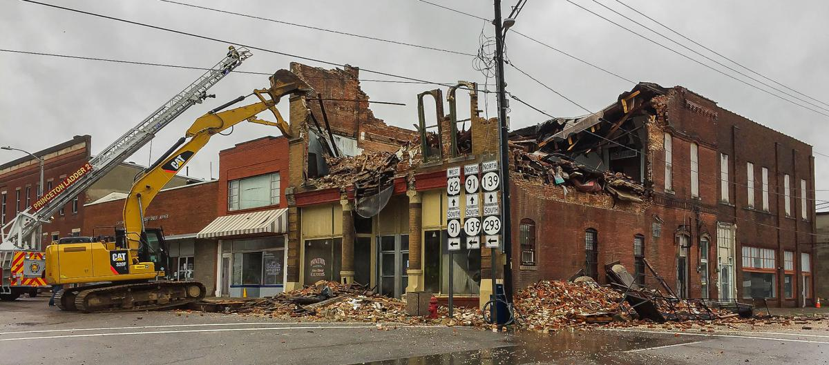 Old Masonic Lodge collapses in downtown Princeton PIC 1