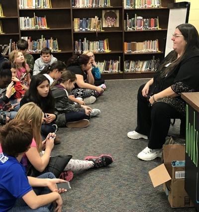 Author visits Caldwell County Elementary School