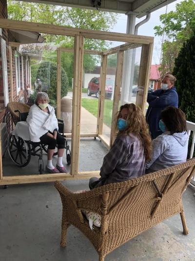 Princeton Nursing installs outside visiting station