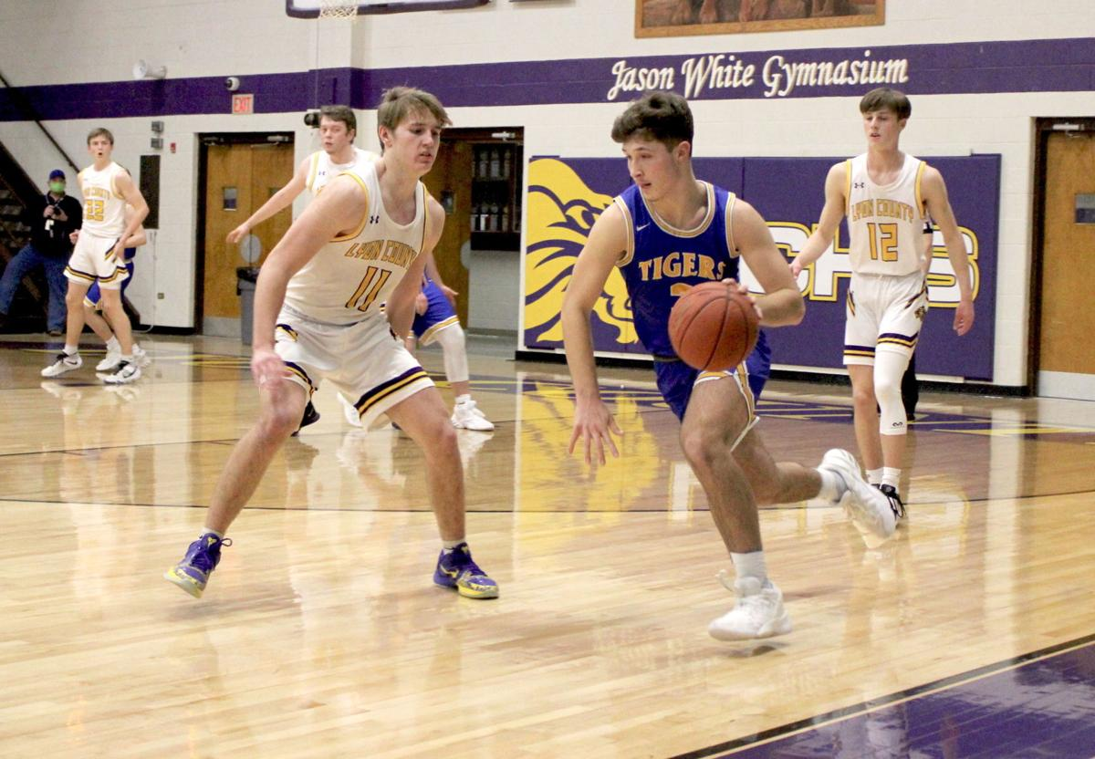 Lyon County pulls ahead late to beat Tigers 77-64