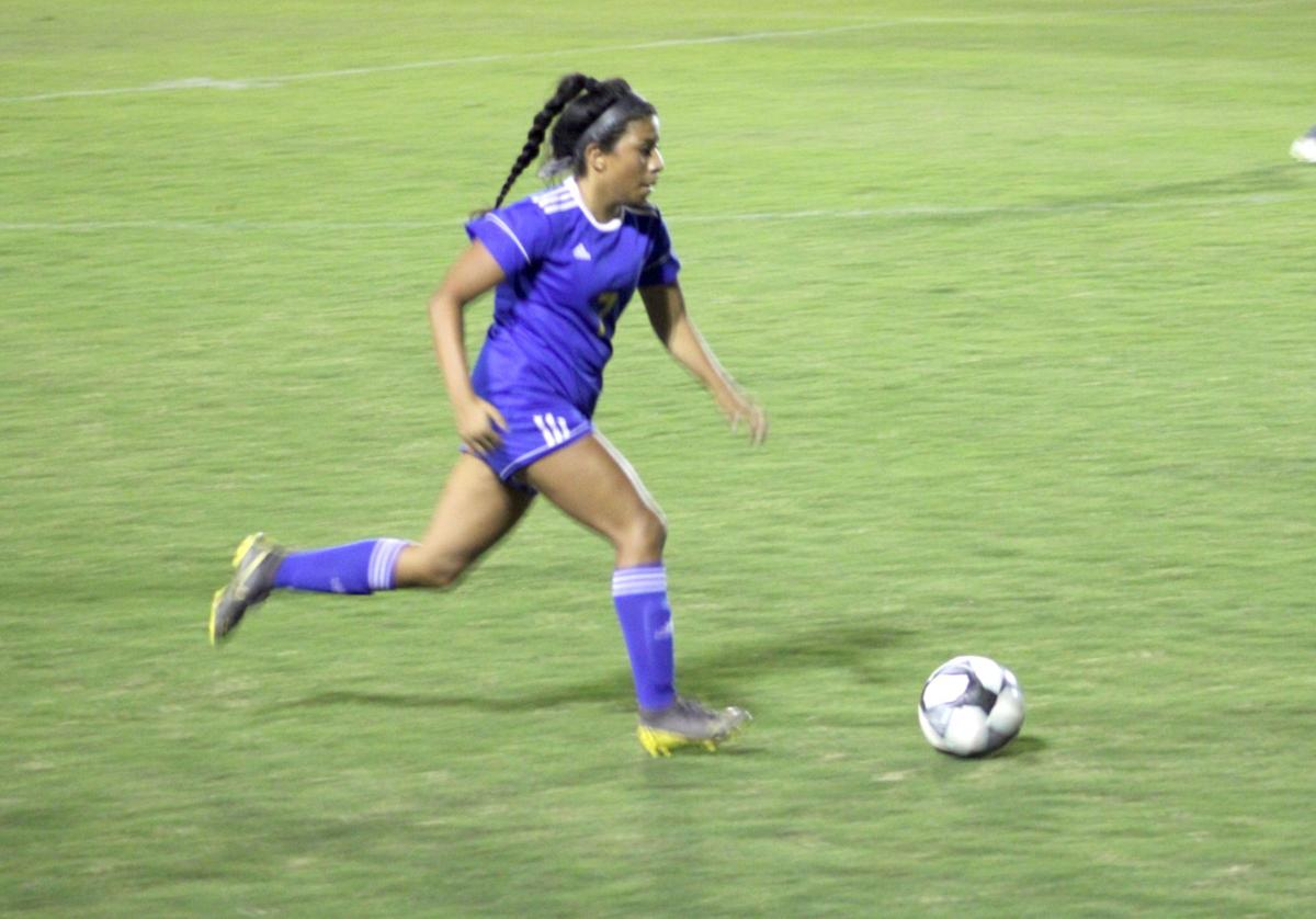 Girls' soccer wins district game over visiting Lady Storm