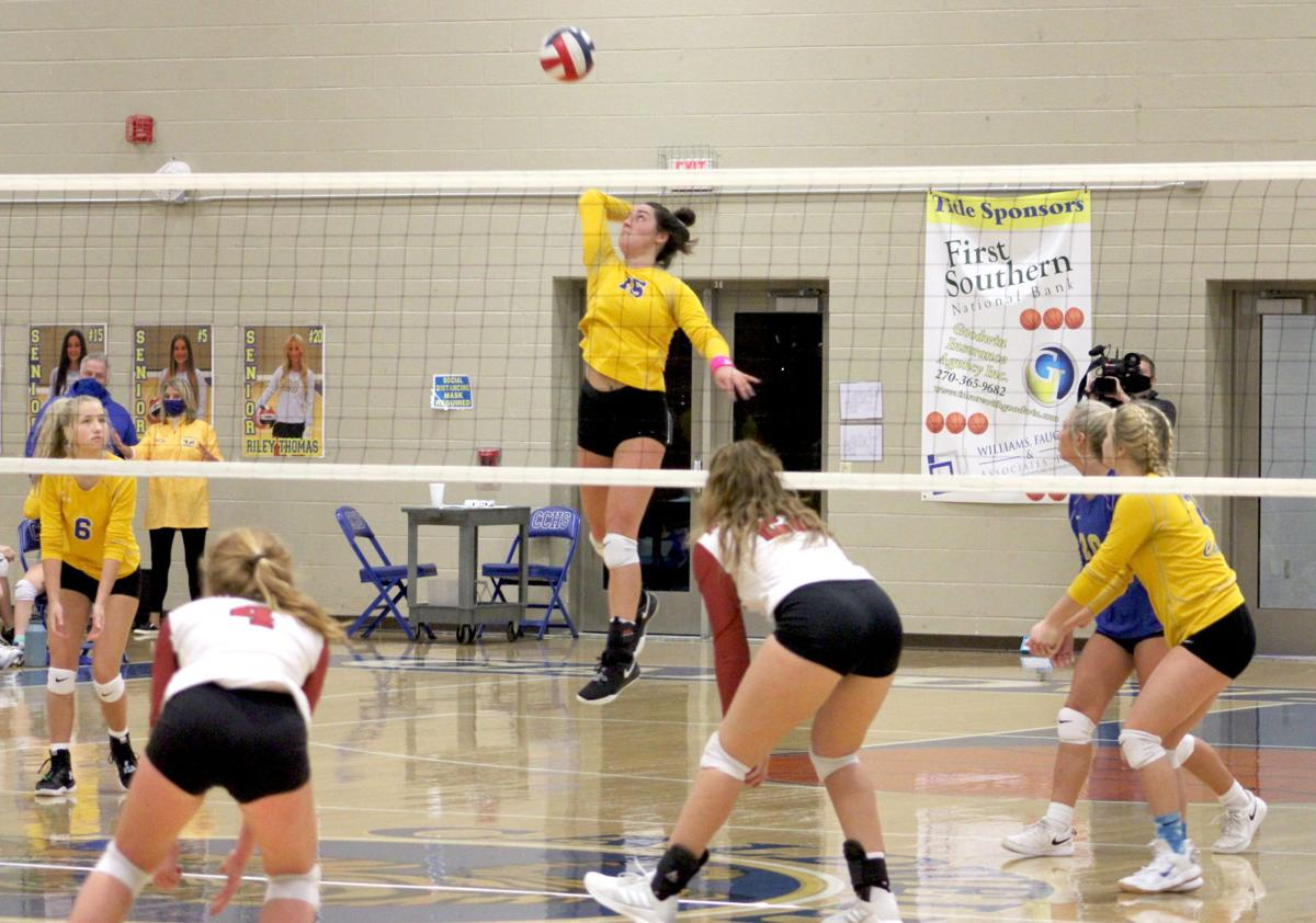 CCHS volleyball ends season in first round of state tournament