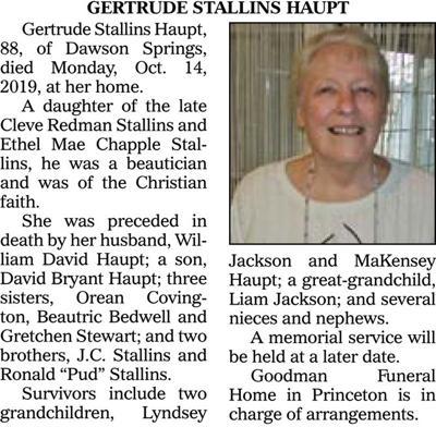 Gertrude Stallins Haupt