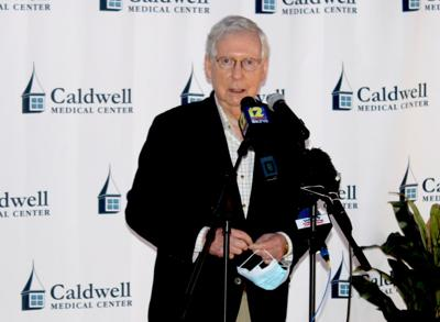 McConnell visits Caldwell Medical Center Thursday