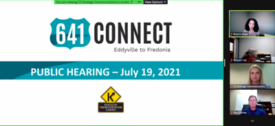 Community meets to hear 641 Connect update and share criticisms