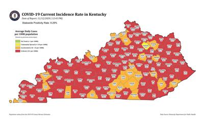 Caldwell's incidence rate still red, but getting lower