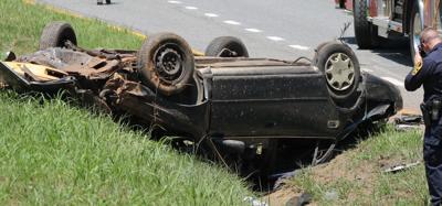 Blown tire wreck in Appomattox sends man to hospital