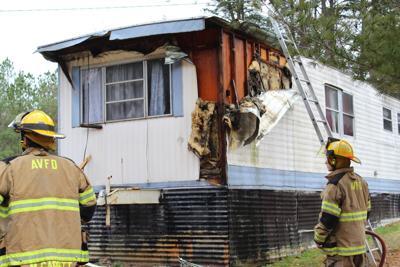 Mobile home damaged in Appomattox County fire