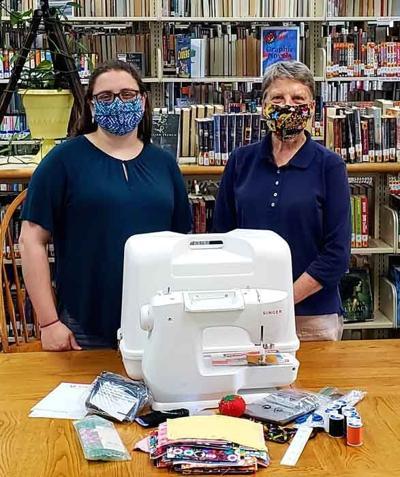 Library Director Diana Harvey and Deborah Long