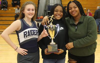 VHSL postpones Class 1, 2 Indoor Track State finals; Raider girls receive 1st place trophy