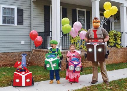 mario kart characters halloween costumes