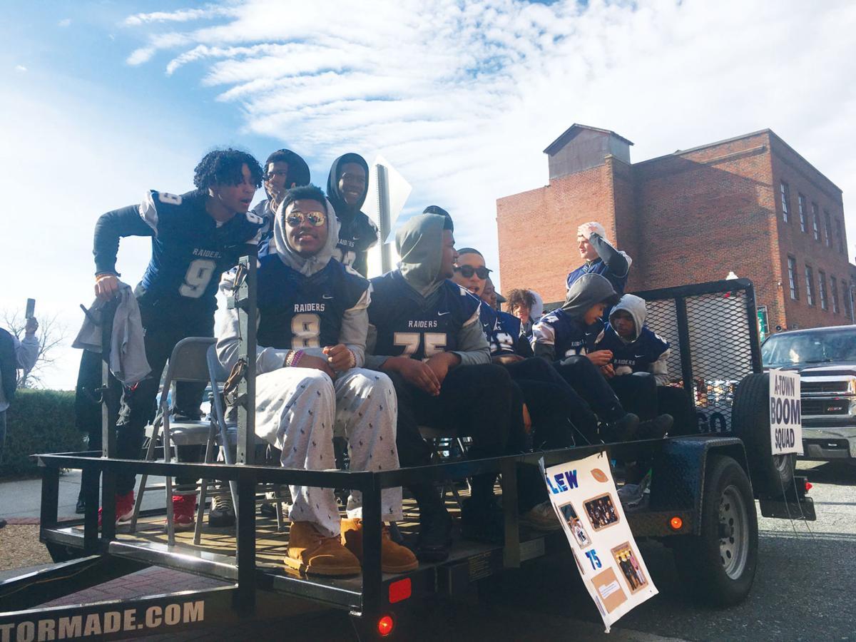 Appomattox County High School Raider football team members