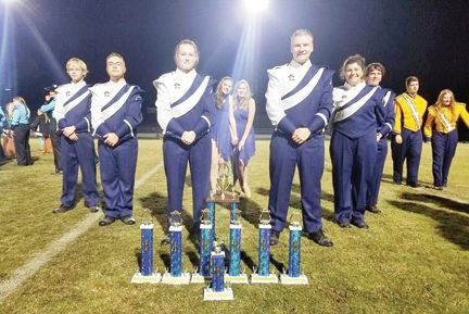 Appomattox Raiders Marching Band trophies